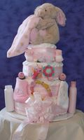 Snuggles-four tier diaper cake